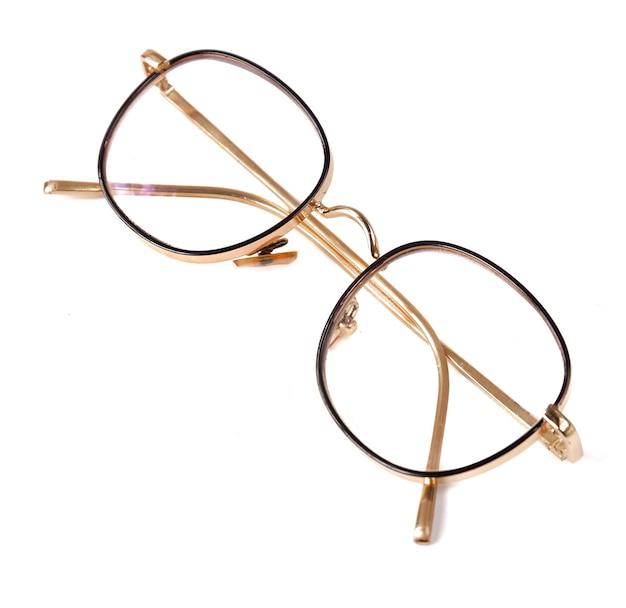 Mooie bril geïsoleerd op een witte achtergrond