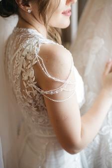 Mooie bruid op haar trouwdag