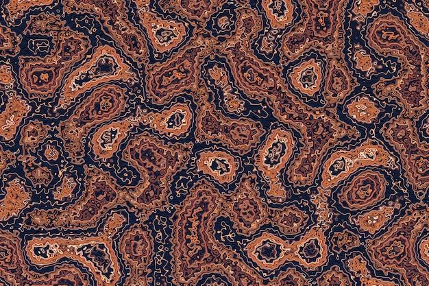 Mooie bruine textuur vector design 3d illustratie. abstracte chaotische popart oppervlaktepatroon.