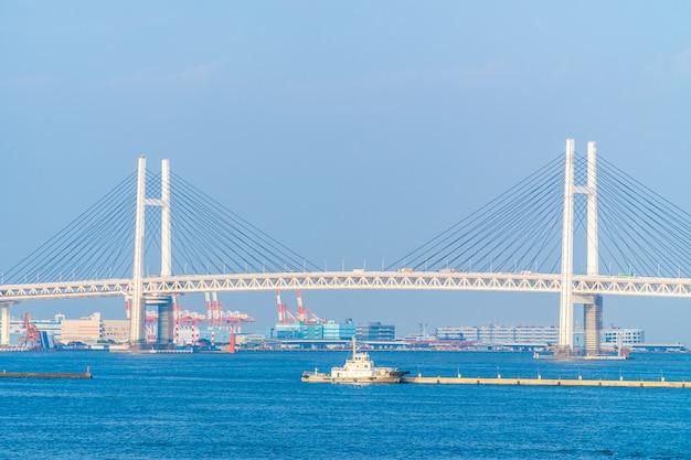 Mooie buitenkant van yokohama-brug