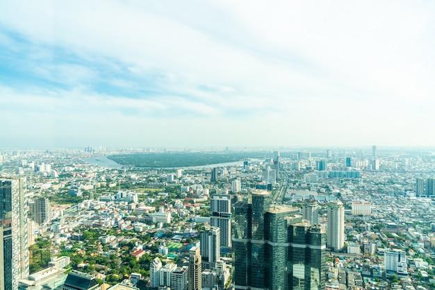Mooie cityscape met architectuur en het inbouwen van bangkok thailand