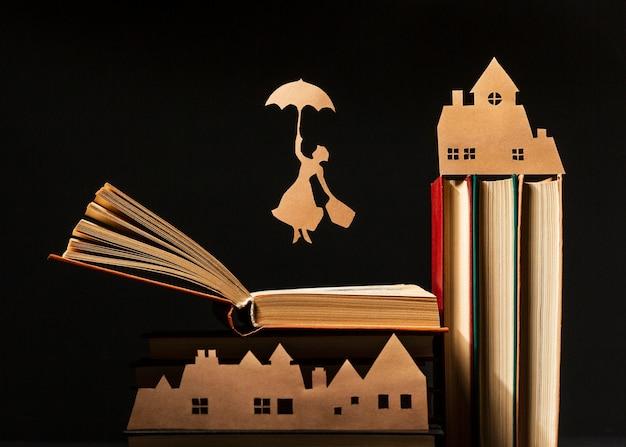 Mooie compositie van verschillende boeken