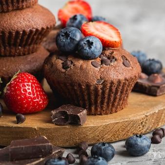 Mooie en heerlijke dessertclose-up