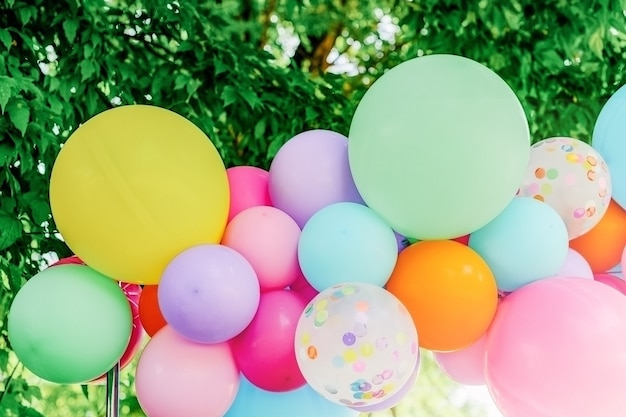 Mooie en kleurrijke veelkleurige feestelijke ballonnen