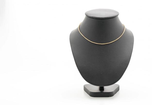 Mooie en luxe ketting met sieraden opstaande hals