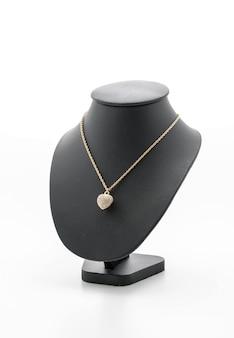 Mooie en luxe ketting op sieraden staande hals