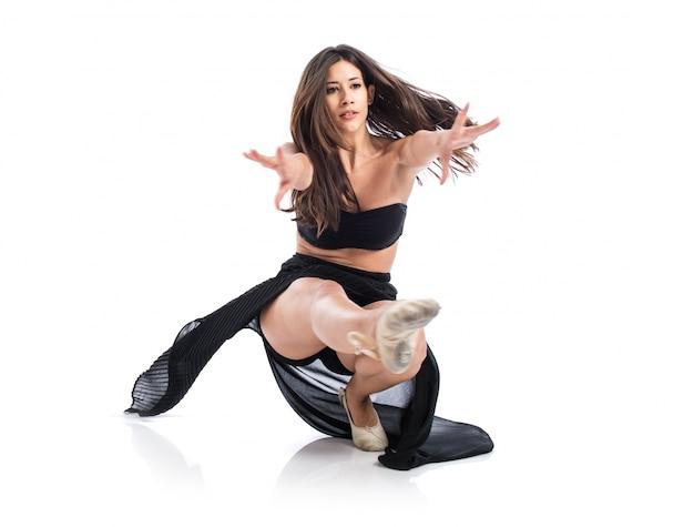Mooie fitness vrouwelijke dansen