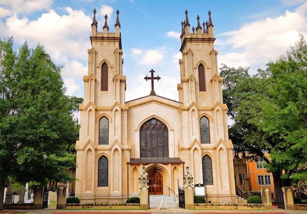Mooie foto van de trinity episcopal cathedral, columbia, south carolina