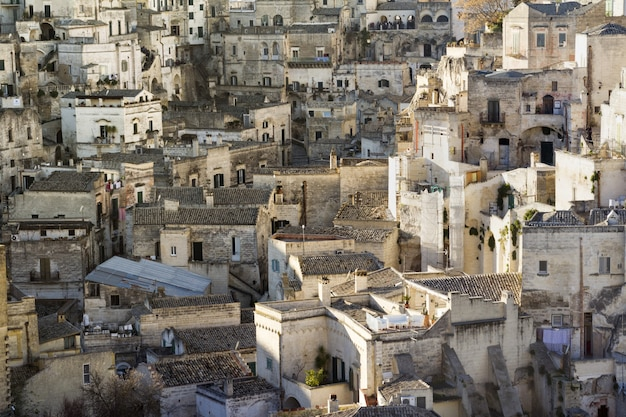 Mooie foto van matera, de culturele hoofdstad van europa in basilicata, italië