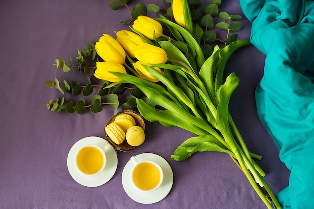 Mooie gele tulpen