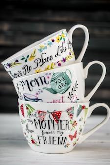 Mooie grote beker voor moederdag en 8 maart