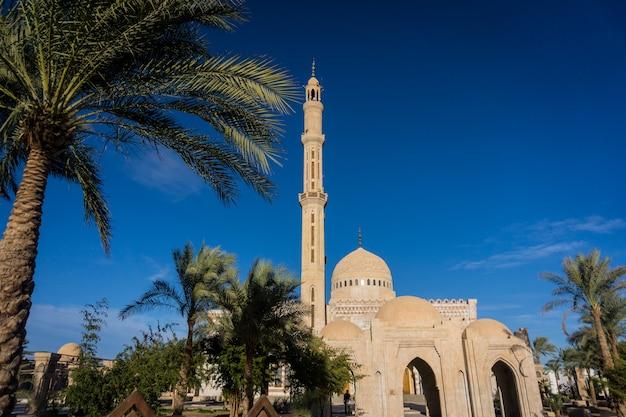 Mooie grote islamitische moskee aan de hemel