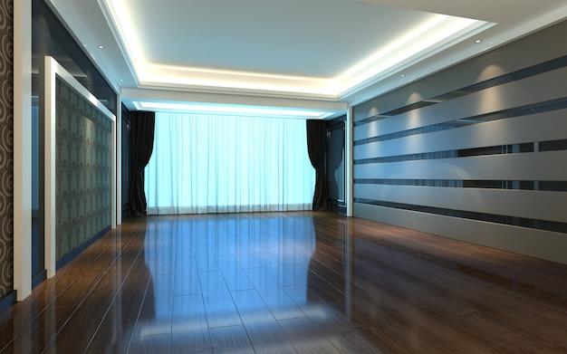 Mooie heldere warme kamer met zonlicht passeren