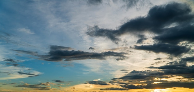 Mooie hemel met wolken achtergrond, hemel met wolken weer natuur wolk blauw,