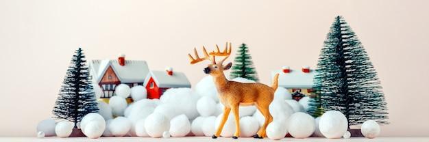 Mooie herten op kerstavond