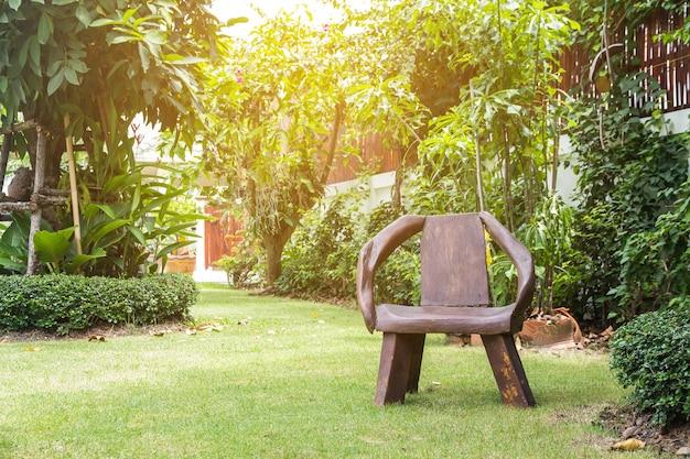 Mooie hoek van de kleine tuin