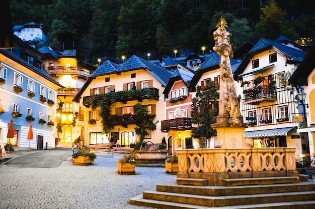 Mooie huizen in een gezellige stad