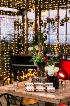 Mooie interieurdecoratie van kerstmis