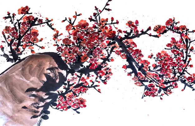 Mooie japan landschap rode schoonheid viering