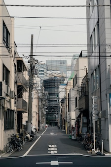 Mooie japan stad met fietsen