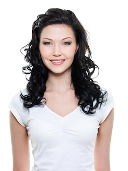 Mooie jonge gelukkige vrouw