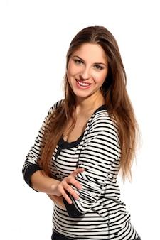 Mooie jonge vrouw met lang haar