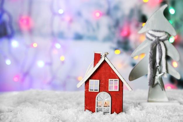 Mooie kerstcompositie op glanzend oppervlak