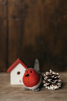 Mooie kerstmissamenstelling met ornamenten