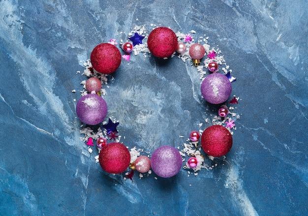 Mooie kerstmissamenstelling op kleur