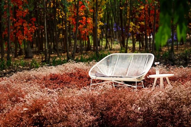Mooie kleur in de zomer, lente, stijl van boomshows voelt dromerig aan, kopieer ruimte