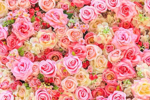 Mooie kleurrijke rozenachtergrond