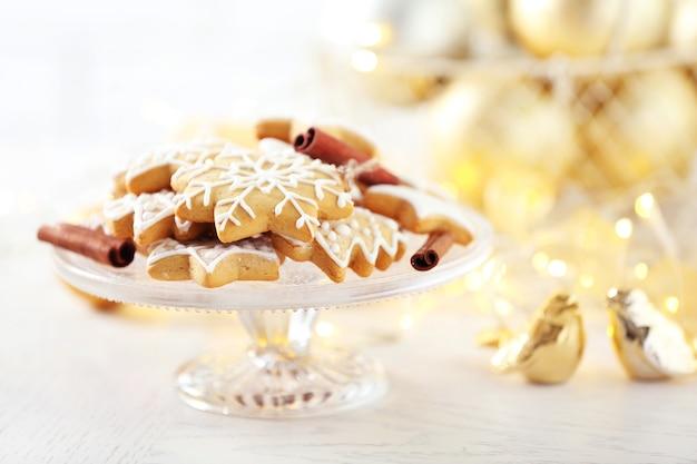 Mooie koekjes met kerstdecor