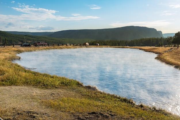 Mooie laag van de hete lente, nationaal park yellowstone