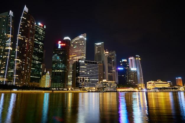 Mooie lange blootstelling verbazingwekkend stedelijke complex