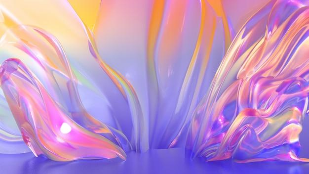 Mooie, lichte, elegante achtergrond. 3d illustratie, 3d-rendering.