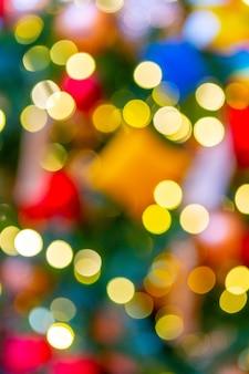 Mooie lichteffect bokeh kerstmis achtergrond