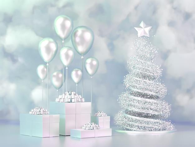 Mooie luxe kerstvakantie achtergrond.