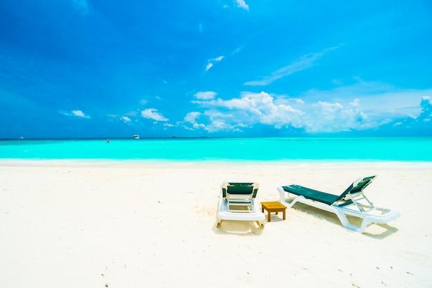 Mooie maldive eiland palm zee