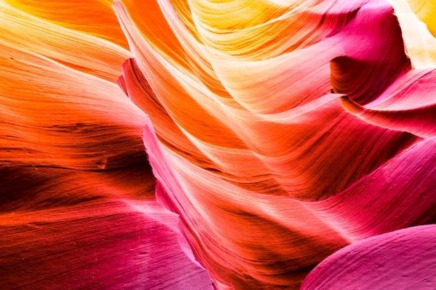 Mooie mening van de zandsteenvormingen van de antilopecanion in het beroemde stammen nationale park van navajo dichtbij pagina, arizona, de vs