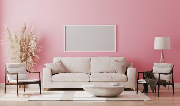 Mooie moderne kamer met een comfortabele bank