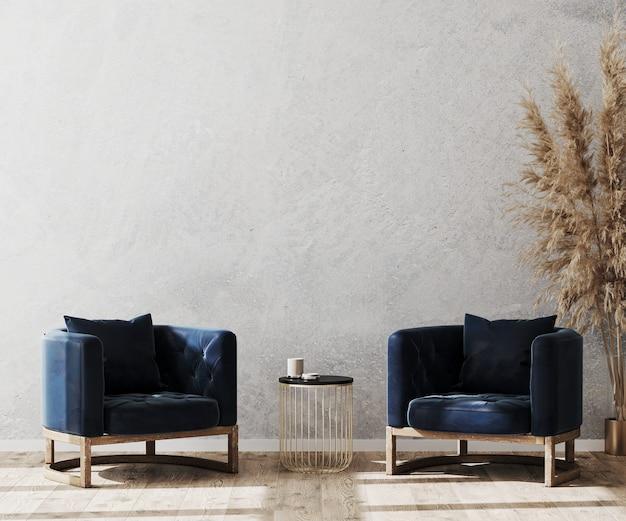 Mooie moderne kamer met twee comfortabele fauteuils