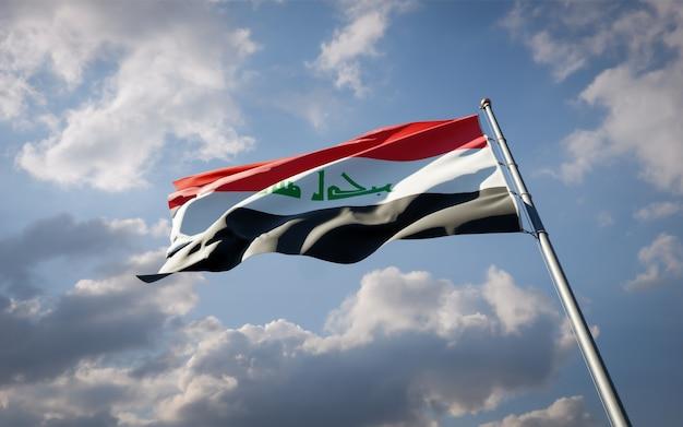 Mooie nationale vlag van irak wapperen