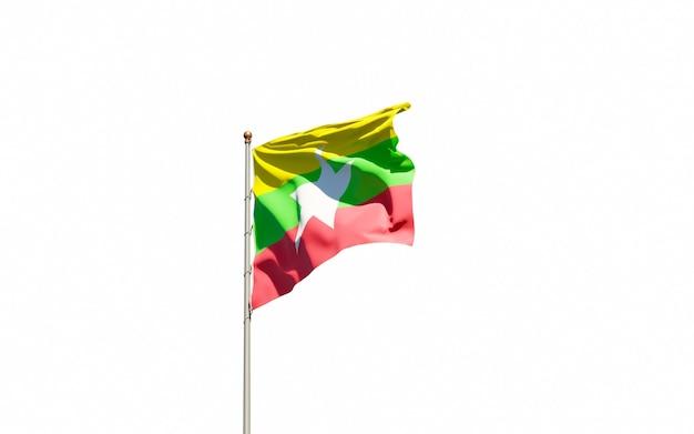 Mooie nationale vlag van myanmar
