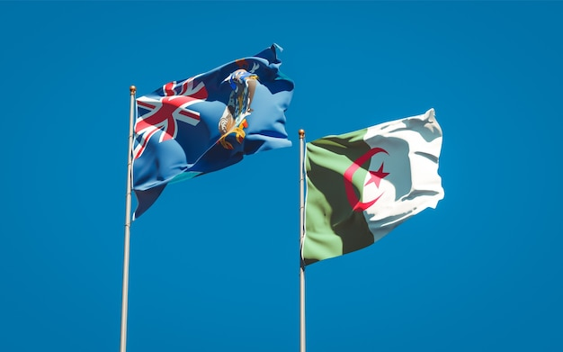 Mooie nationale vlaggen tegen de hemel