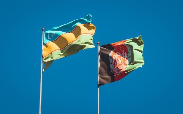 Mooie nationale vlaggen van afghanistan en karakalpakstan