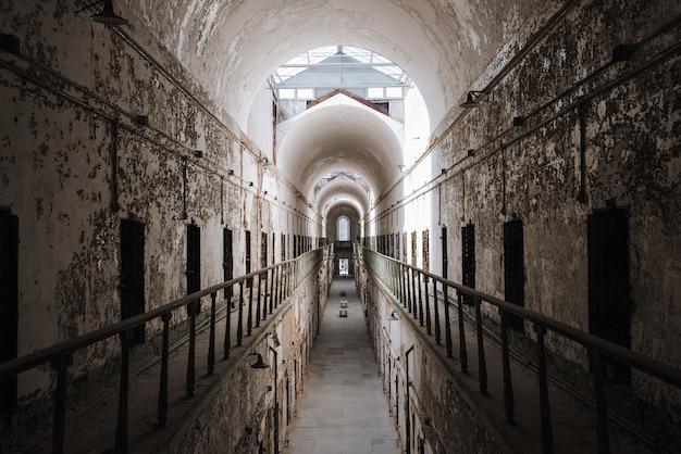 Mooie opname in de eastern state penitentiary philadelphia usa
