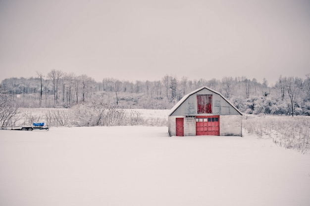 Mooie opname van het prachtige landschap van het besneeuwde landschap in pennsylvania