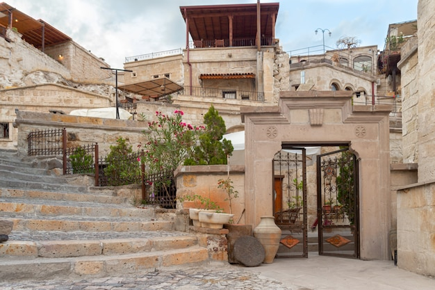 Mooie oude straten van cappadocië, turkije