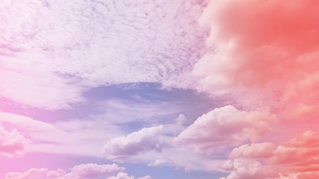 Mooie pastel lucht en wolken