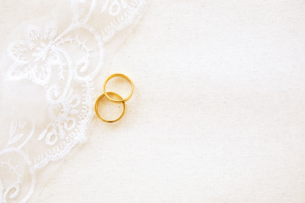 Mooie plat lag achtergrond van bruiloft of valentines concept
